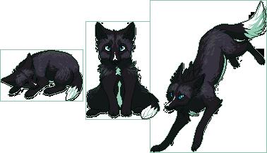 Pixel Fox - Black