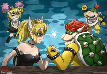 Bowser vs Bowsette (Hi-Res) | TomoeOtohime by TheLimitlessFortress