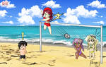 MM Beach Volleyball (Chibi Edition)| Oztoatl by TheUnlimitedFortress