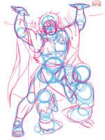 Alcaeus - OC Design (Selfless Hero) [Sketch]  by TheUnlimitedFortress