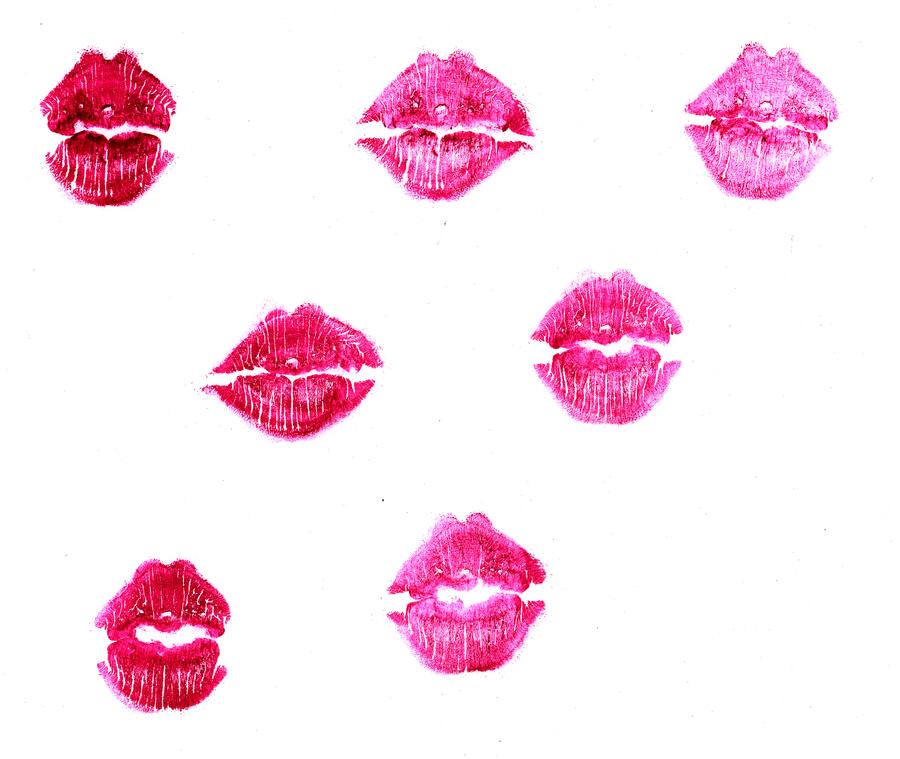 Lip Print Wallpaper Lip prints by medicinedollLip Print Wallpaper
