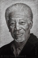 Morgan Freeman by deanreevesii
