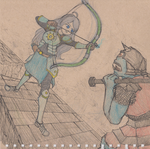 Anime Sketch art trade #2