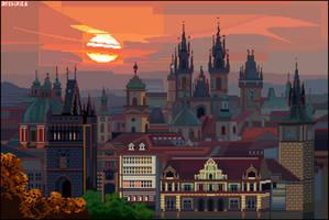 Prague Skyline by archipics
