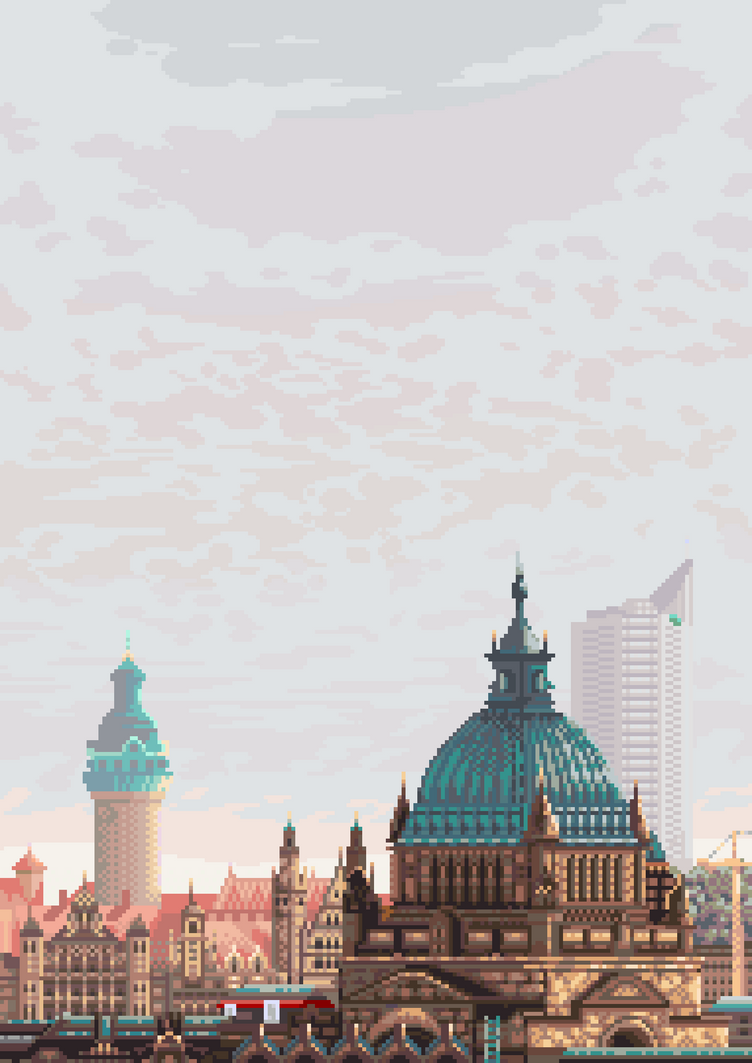 Leipzig Cityscape by archipics