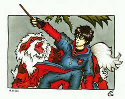 harry and arcanine vs. dragon