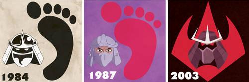 Shredder 1984, 1987, 2003 by nicholasnrm123