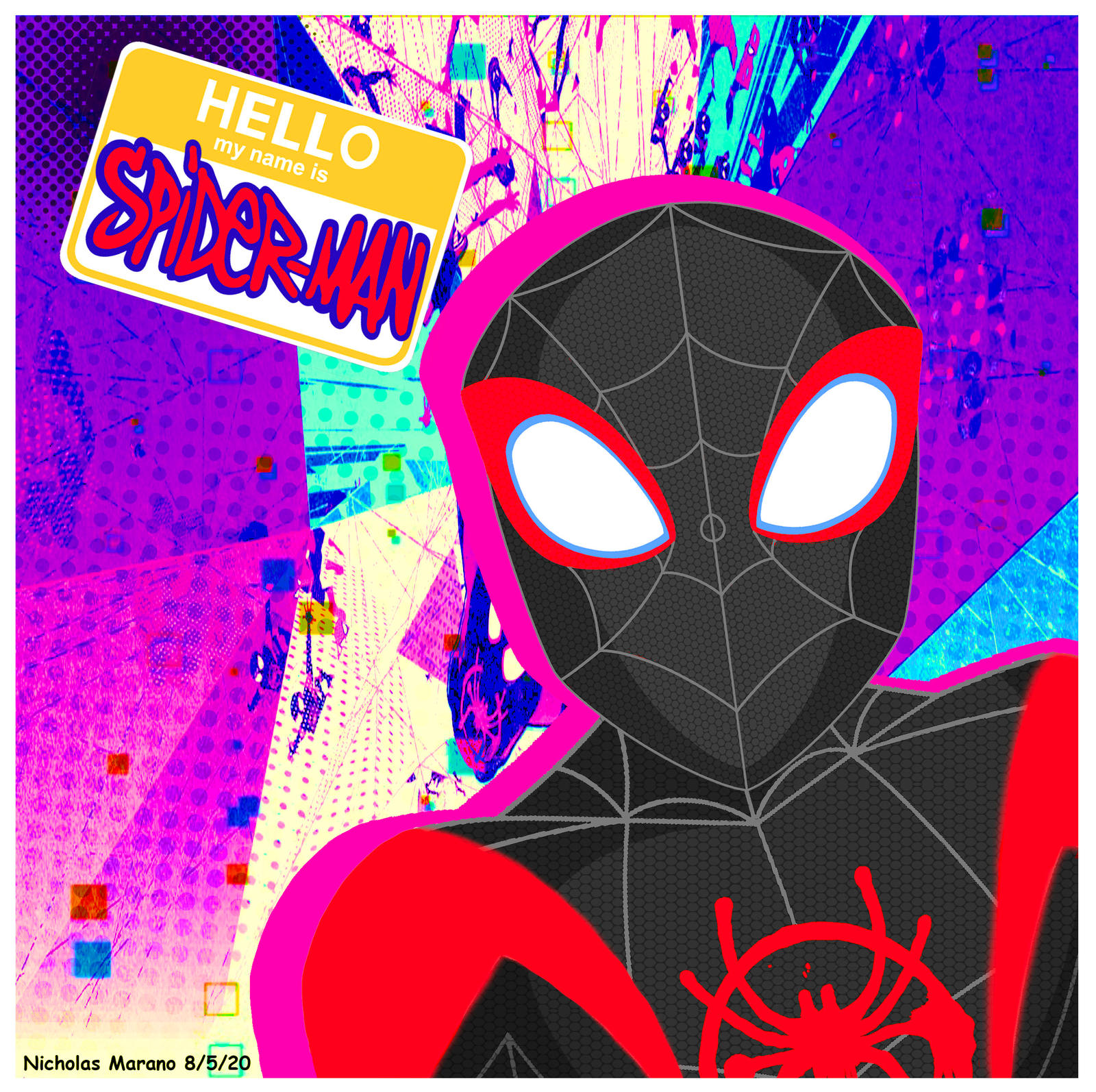 Spider Man Into The Spider Verse Miles Morales By Nicholasnrm123 On Deviantart