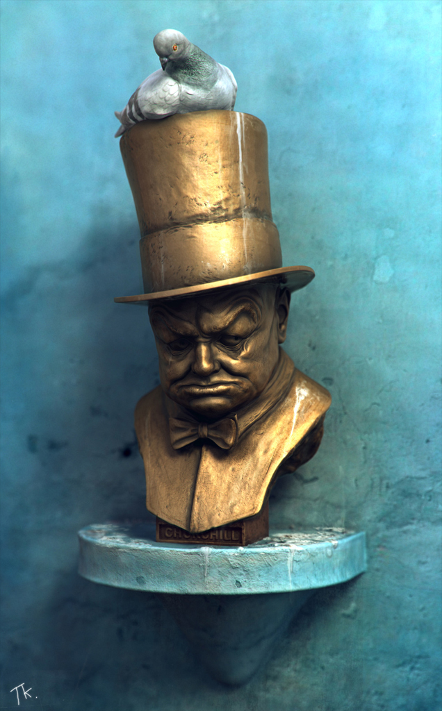 Winston Churchill bust by TomasKral