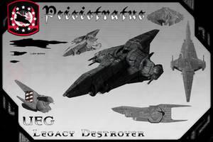 Peisistratus Class Destroyer(Redux) by samurairyu