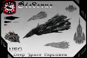Diodorus Class Deep Space Explorer by samurairyu