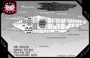 Brochus Class Assault Transport, Schematic View by samurairyu