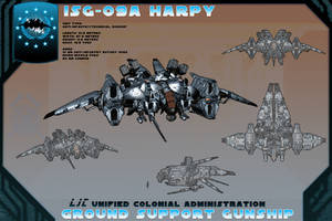 ISG-09A Harpy Gunship by samurairyu
