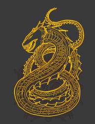 Sea Serpent pattern for clothing