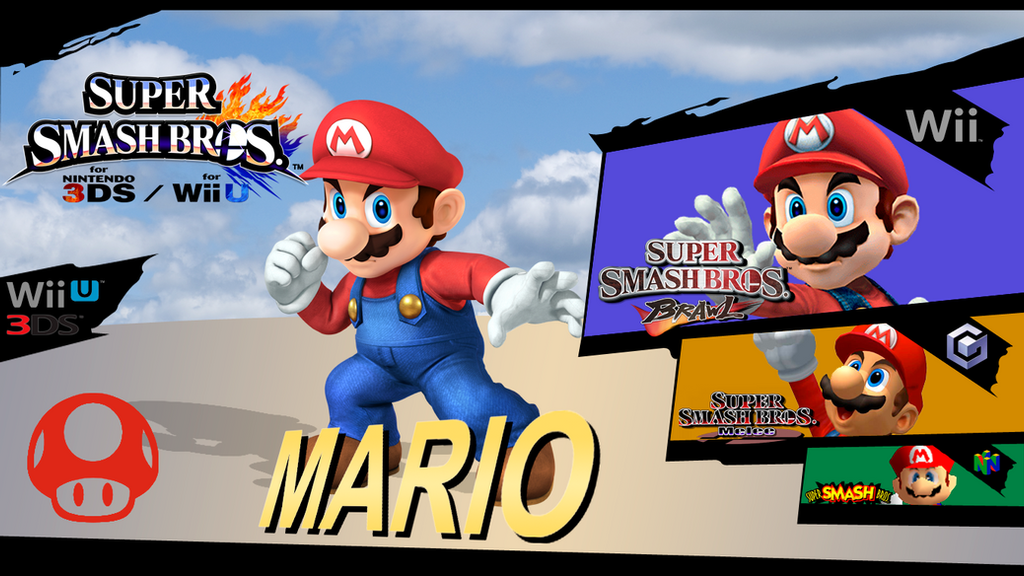 Super Smash Bros Evolution Mario By Dragonnjmb