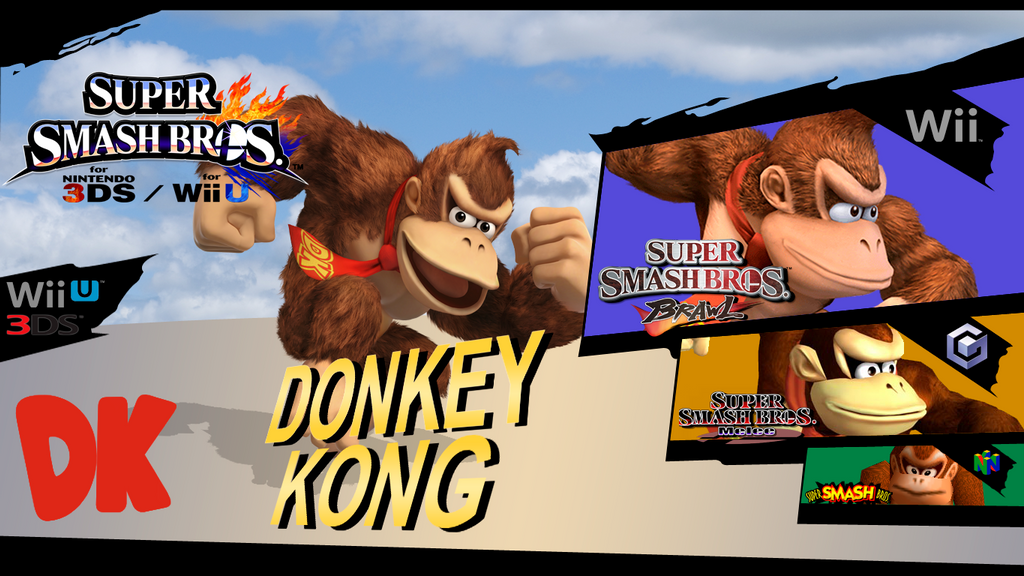 super smash bros evolution donkey kong by dragonnjmb on
