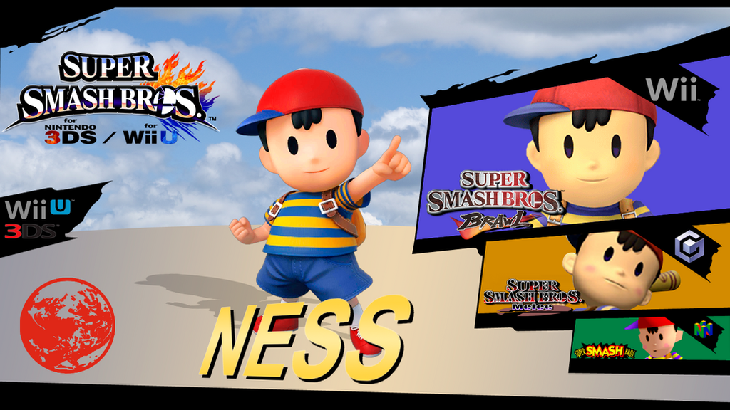 Ness Super Smash Bros Wii U