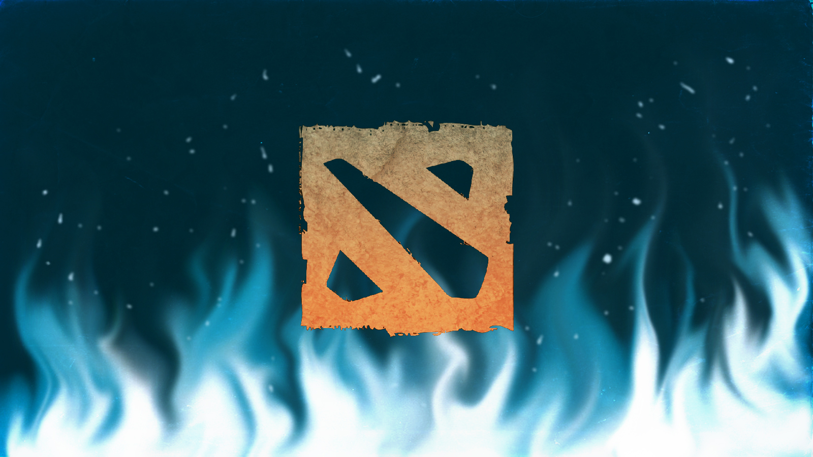 Dota2 Logo With Blue Flames By DracoPheonus