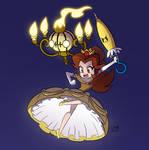 Smash Bros. Princess Belle and Chandelure