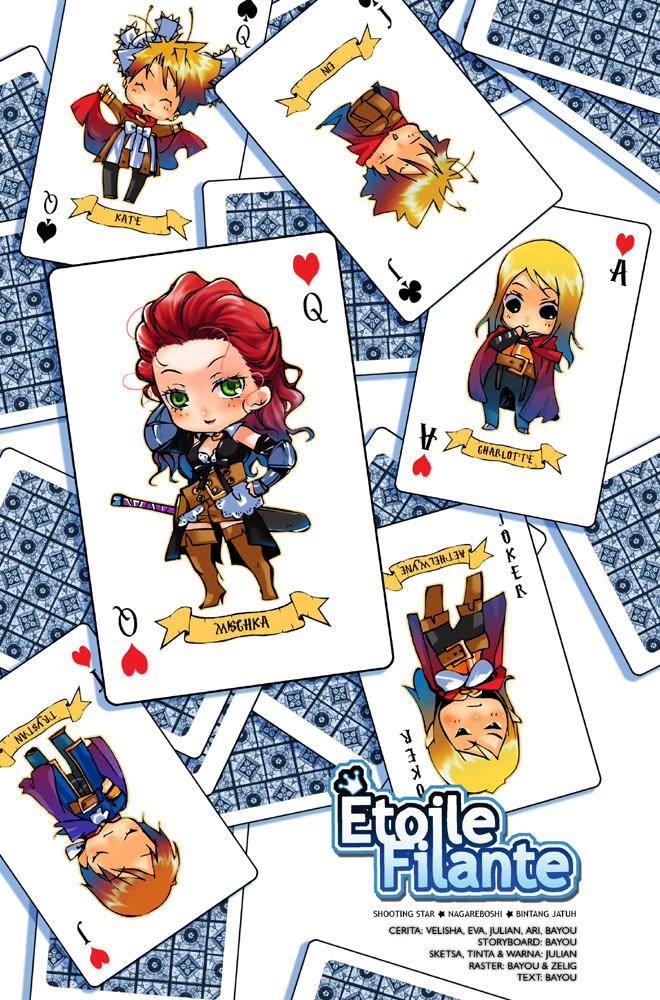 etoile cards pin up by adipatijulian