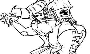 Juri vs Moira by joncomms
