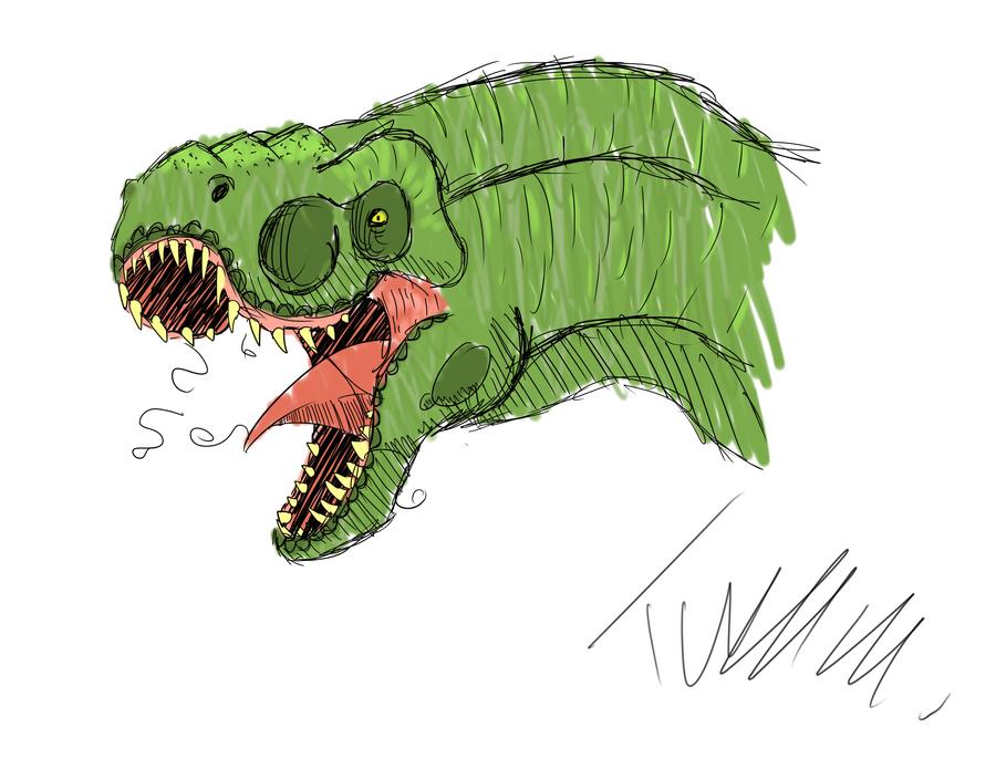 Dinosaur Sketch by T-Reqs