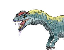 Primal Carnage Dilophosaurus Sketch by T-Reqs