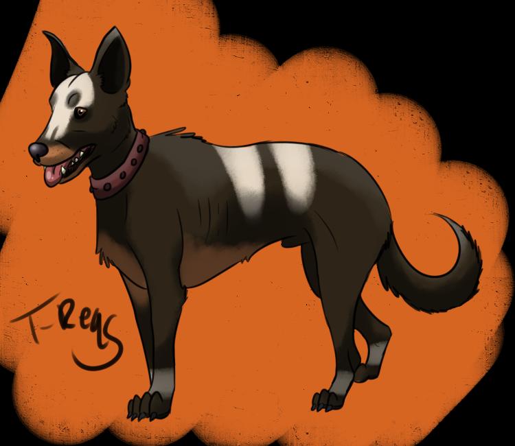 Houndour- German Shepherd/Labrador Inspired by T-Reqs