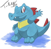 Totodile by T-Reqs