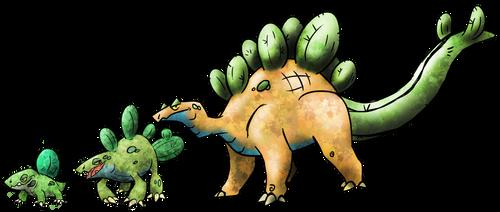 Cactus Stegosaurus Fakemon