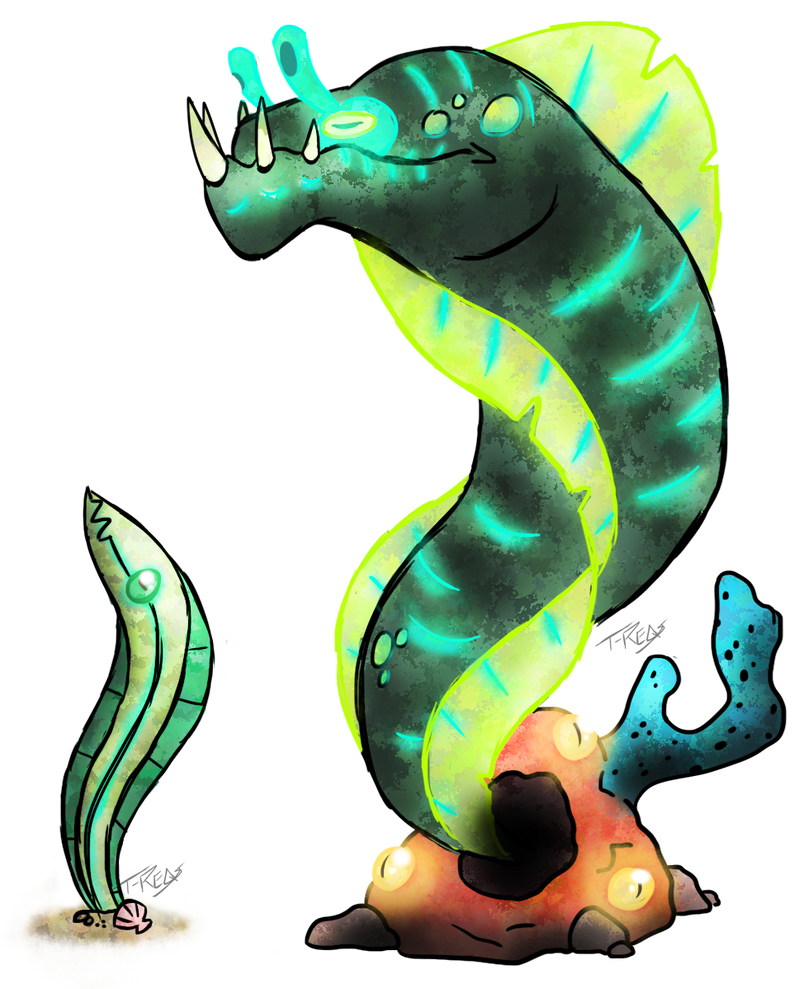 Reef Eel Fakemon by T-Reqs