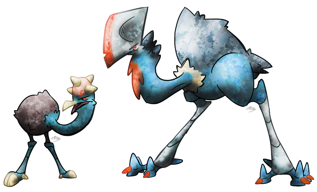 Cassowary Fakemon by T-Reqs