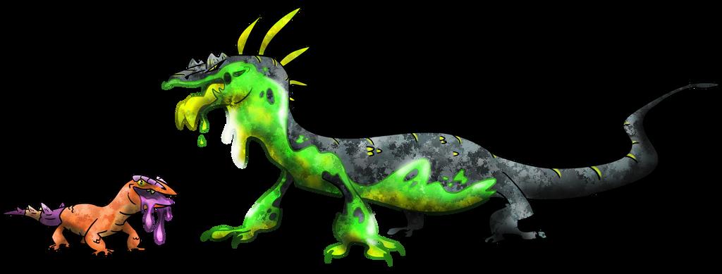 Corrosive Goanna Fakemon by T-Reqs