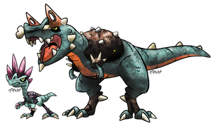 Punk Dinosaur Fakemon