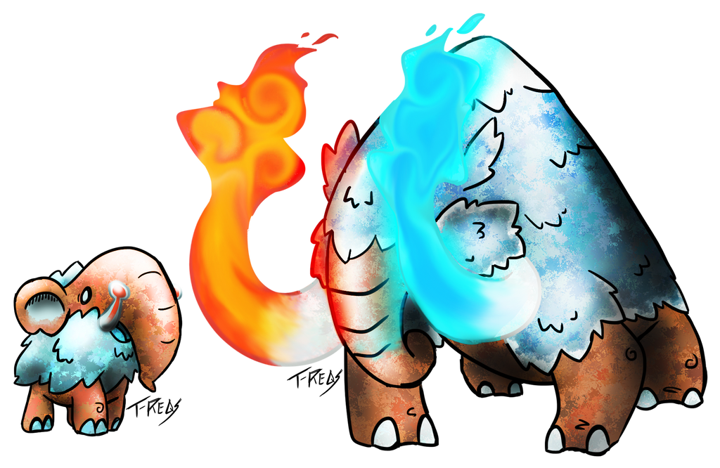Thermal Mammoth Fakemon by T-Reqs