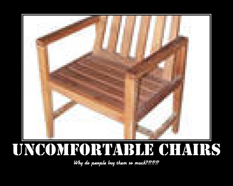 uncomfortable chairs demotivational poster by anime luv3r on