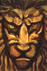Gold Lion by RuslanKadiev