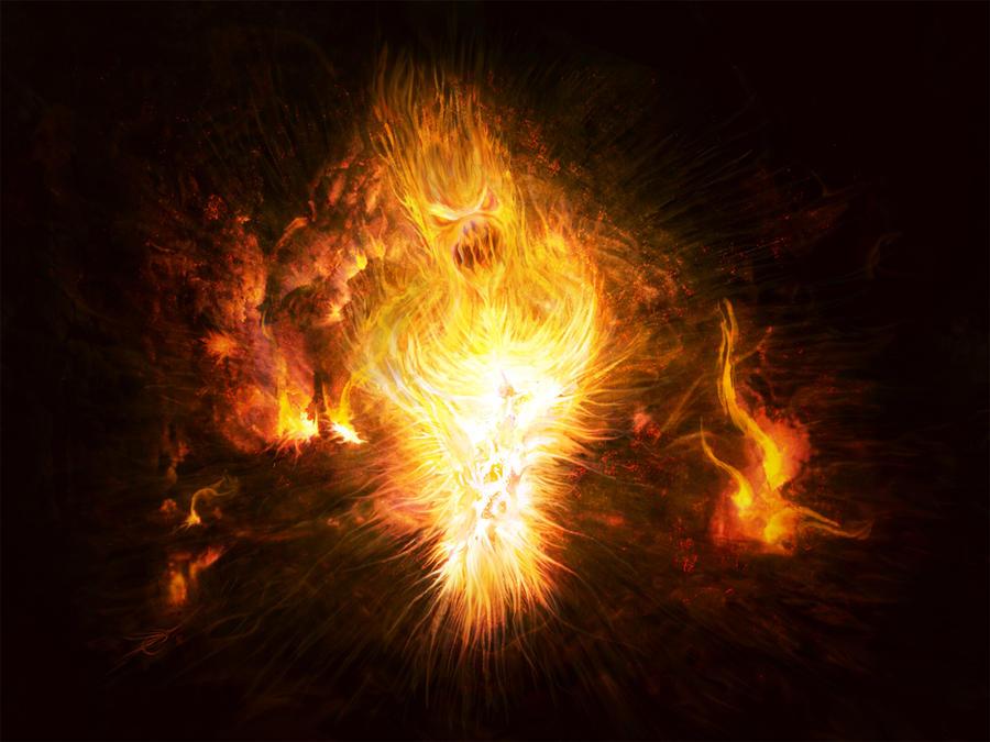 Naira Al'Ewynn Fire_Elemental_by_RuslanKadiev