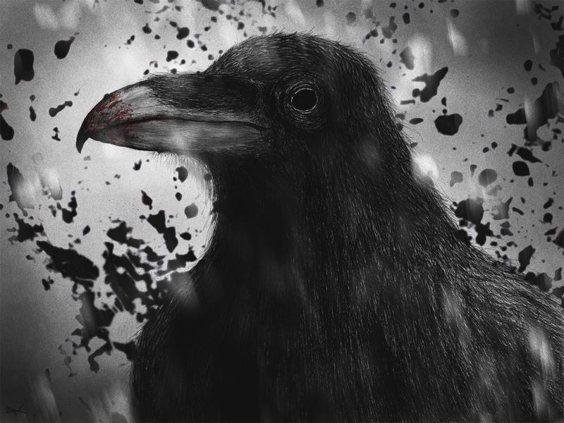Black Crow by RuslanKadiev on DeviantArt