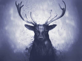 Black Deer by RuslanKadiev
