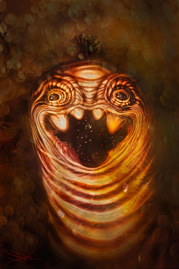 Gold Worm by RuslanKadiev