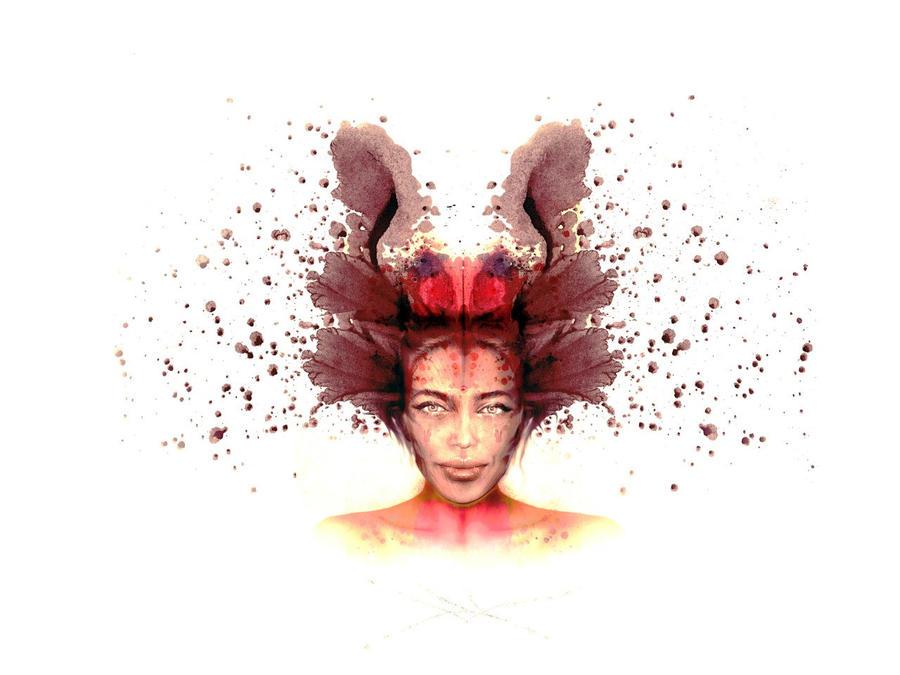 DigitalFaces - The Red Ink by RuslanKadiev
