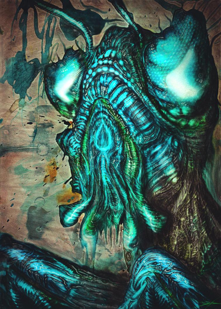 Blue Mantis by RuslanKadiev