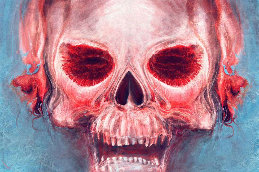 Red-eyed Skull by RuslanKadiev
