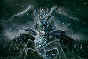 Snow Mantis by RuslanKadiev