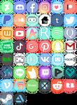 Pixel Social Media Icons