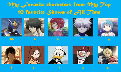 Favorite Characters from My Favorite Shows by rainbine94