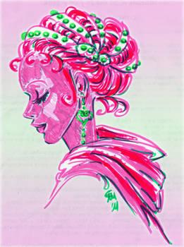 Hot pink peppermint
