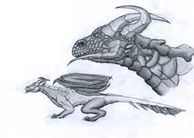 Six Horns Dragon by Plexicity