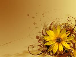 Flowery V by PinkyPinkee